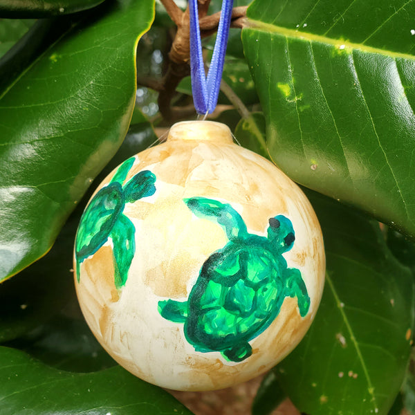 Watercolor Painted Ceramic Ornaments
