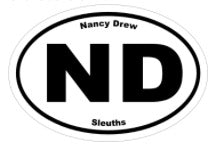 Nancy Drew Sleuths ND Decal