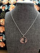 Load image into Gallery viewer, Nancy Drew Silver Cameo Silhouette Necklace