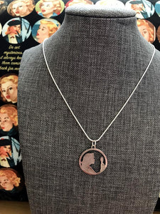 Nancy Drew Silver Cameo Silhouette Necklace