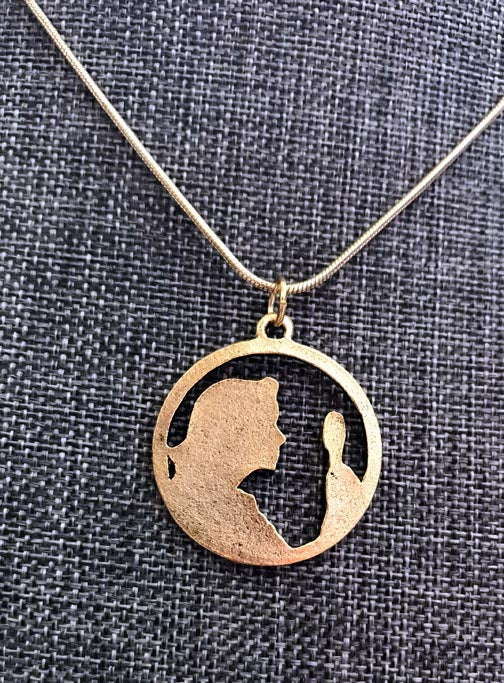 Nancy Drew Gold Cameo Necklace