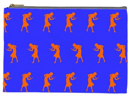 Nancy Drew Orange Silhouette Pouch
