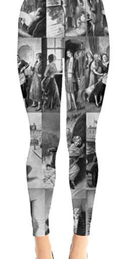 Nancy Drew Vintage Tandy Illustration Leggings