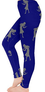 Nancy Drew Blue & Grey Silhouette Leggings