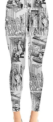 Nancy Drew Classic Illustrations Leggings