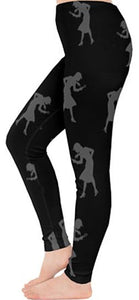 Nancy Drew Black & Grey Silhouette Leggings