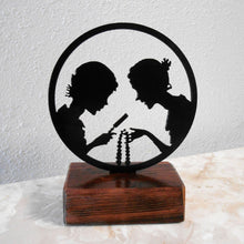 Load image into Gallery viewer, Dana Girls Metal Silhouette & Wood Shelf Decor