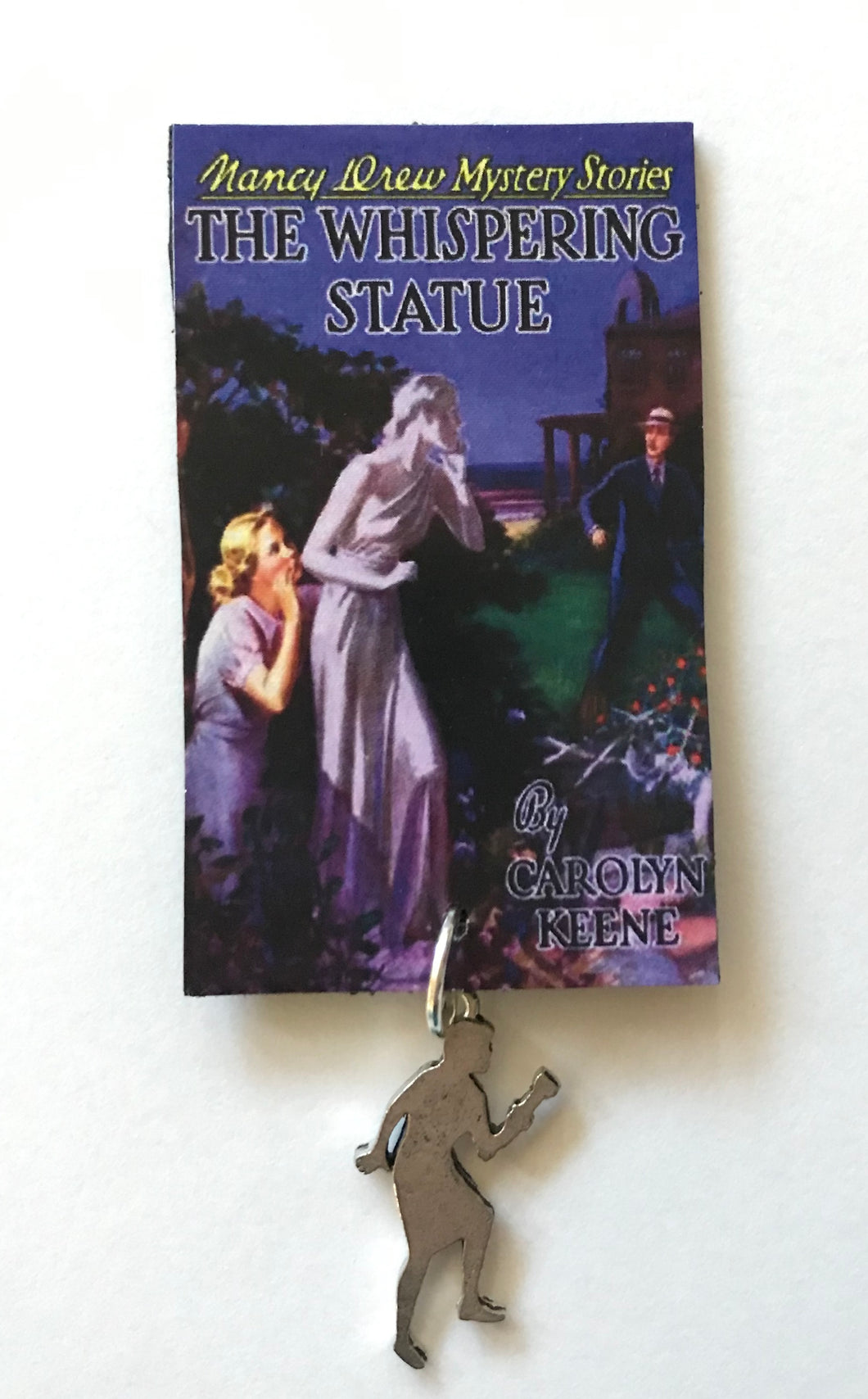 Nancy Drew Book Cover Whispering Statue  Pin or Ornament