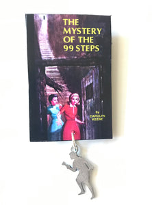 Nancy Drew Book Cover 99 Steps Pin or Ornament