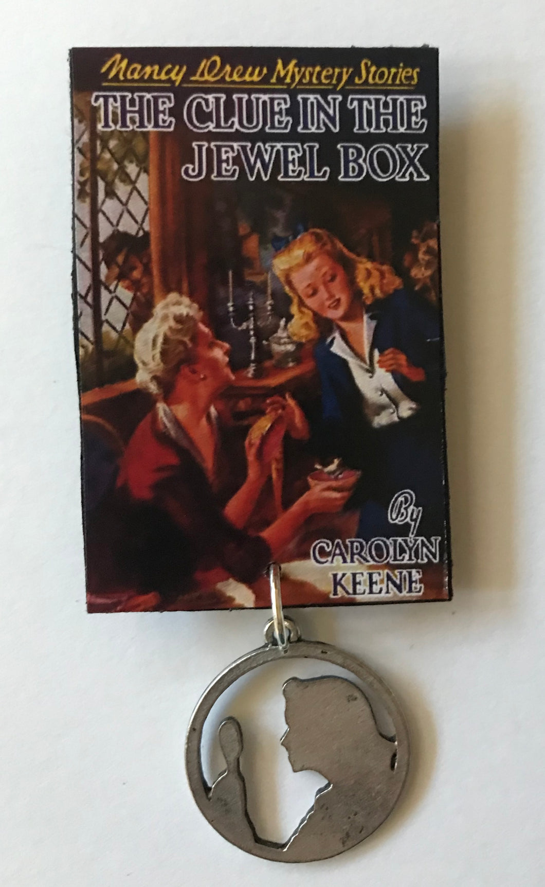 Nancy Drew Book Cover Jewel Box  Pin or Ornament