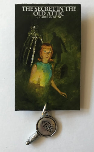 Nancy Drew Book Cover Old Attic  Pin or Ornament