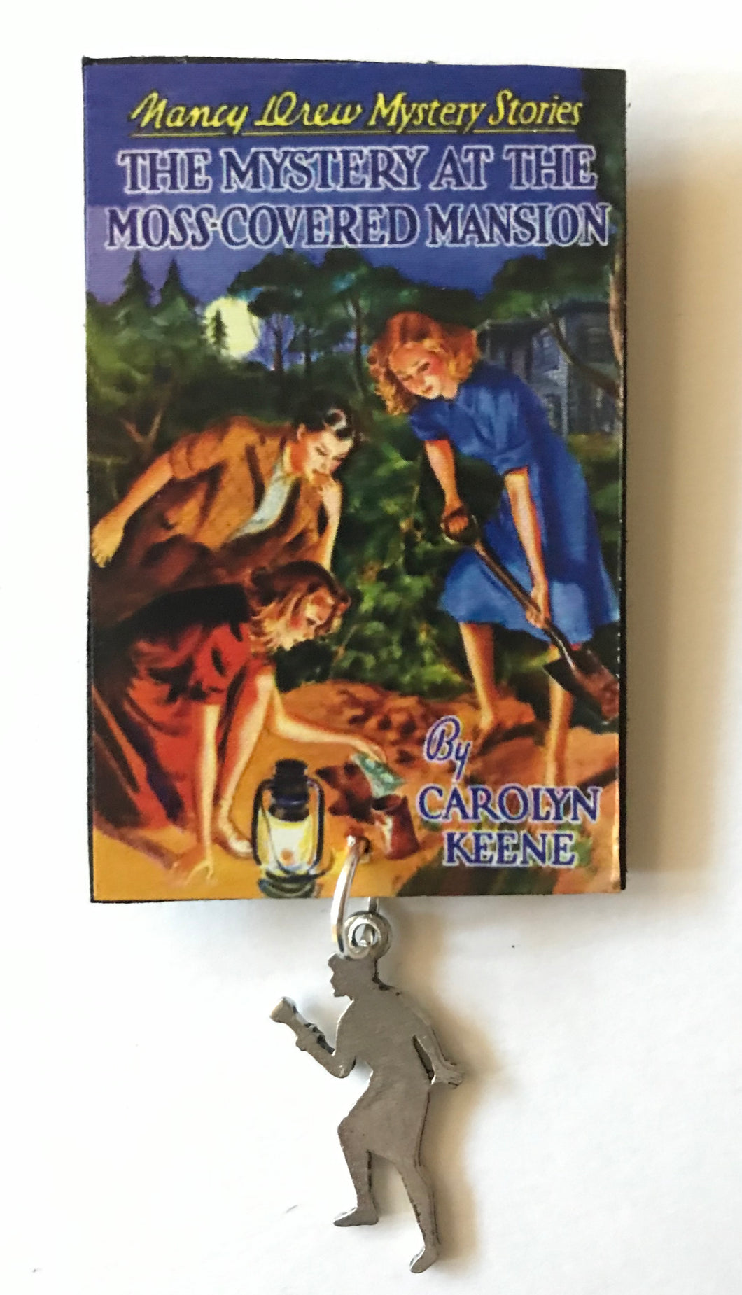 Nancy Drew Book Cover Moss-Covered Mansion  Pin or Ornament
