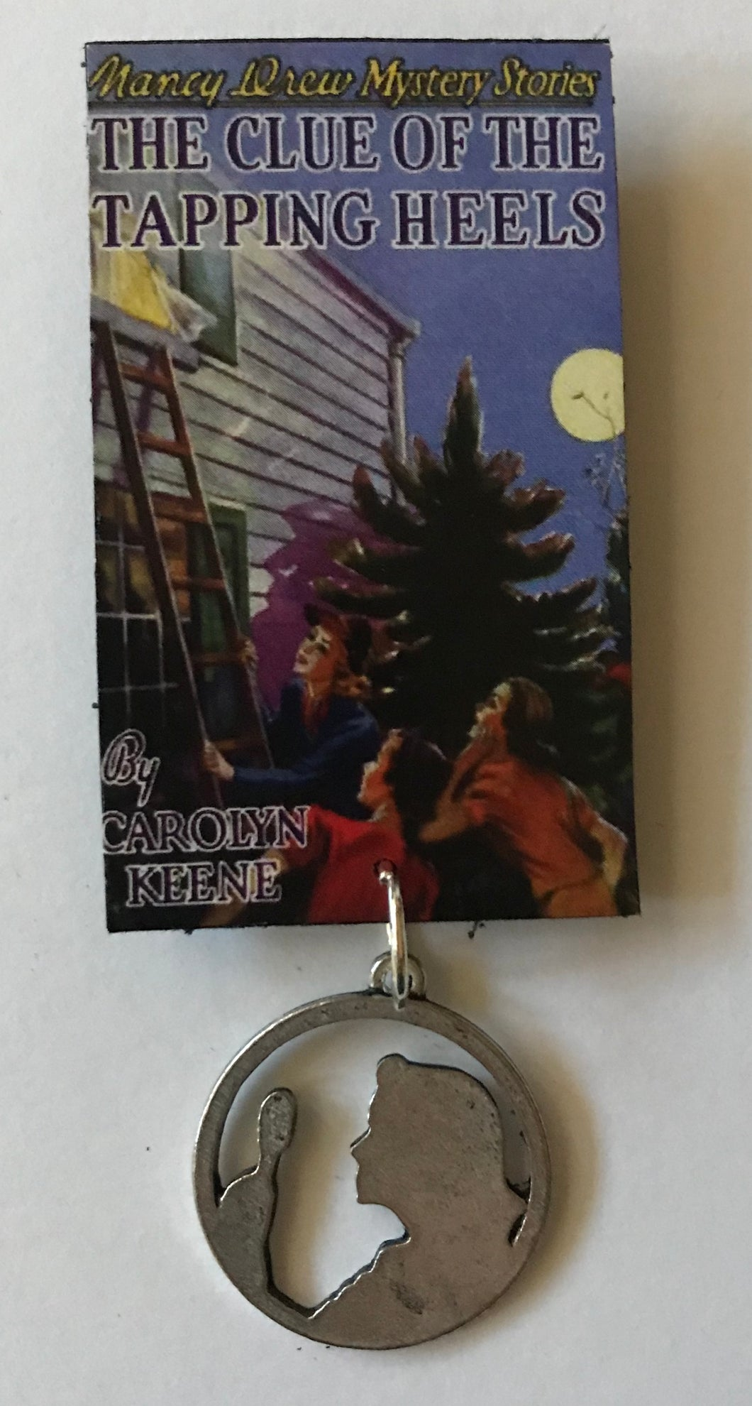 Nancy Drew Book Cover Tapping Heels Pin or Ornament