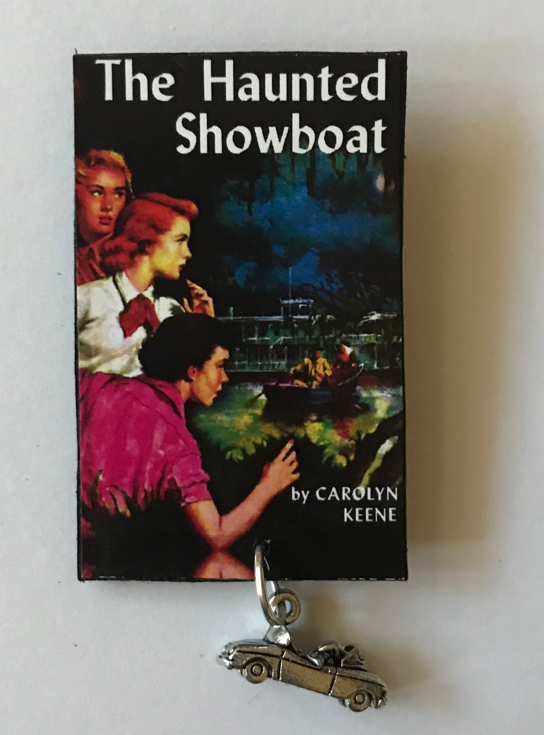 Nancy Drew Book Cover Haunted Showboat Pin or Ornament