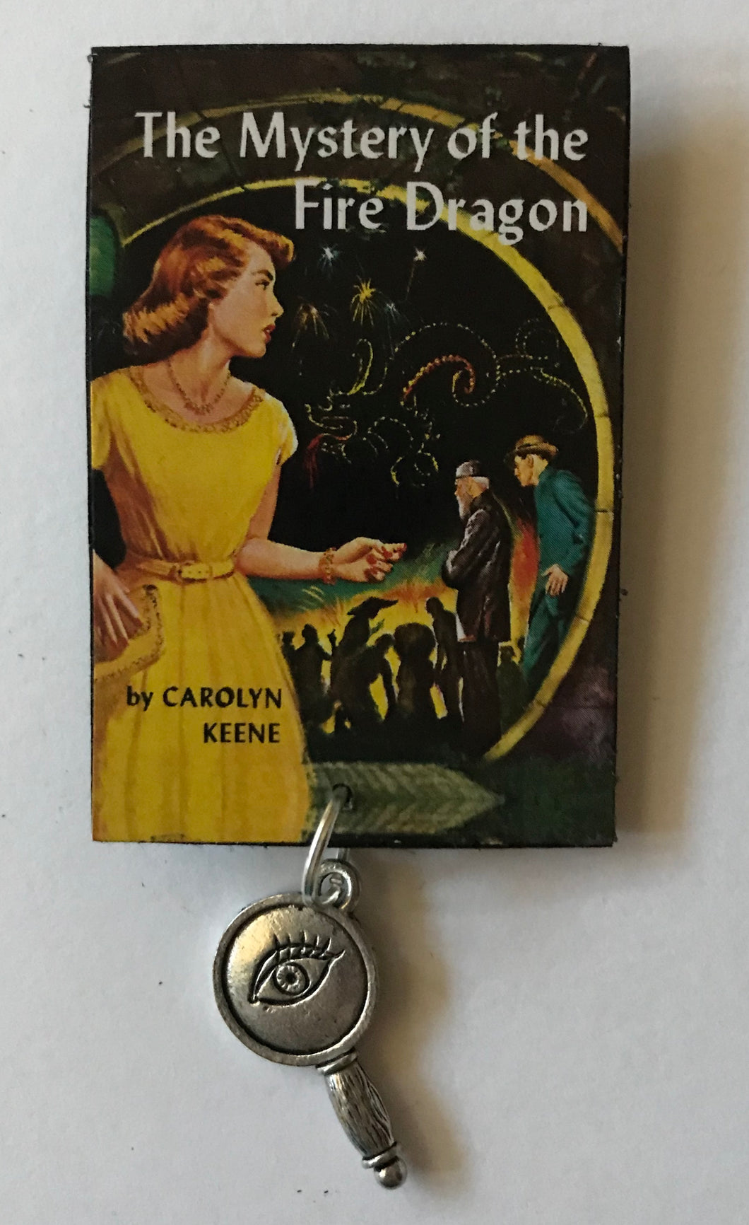 Nancy Drew Book Cover Fire Dragon Pin or Ornament