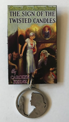 Nancy Drew Book Cover Twisted Candles Pin or Ornament