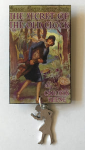 Nancy Drew Book Cover Old Clock Pin or Ornament