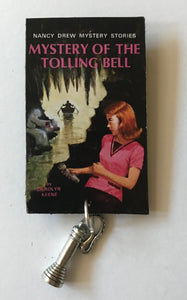Nancy Drew Book Cover Tolling Bell Pin or Ornament