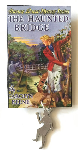 Nancy Drew Book Cover Haunted Bridge Pin or Ornament
