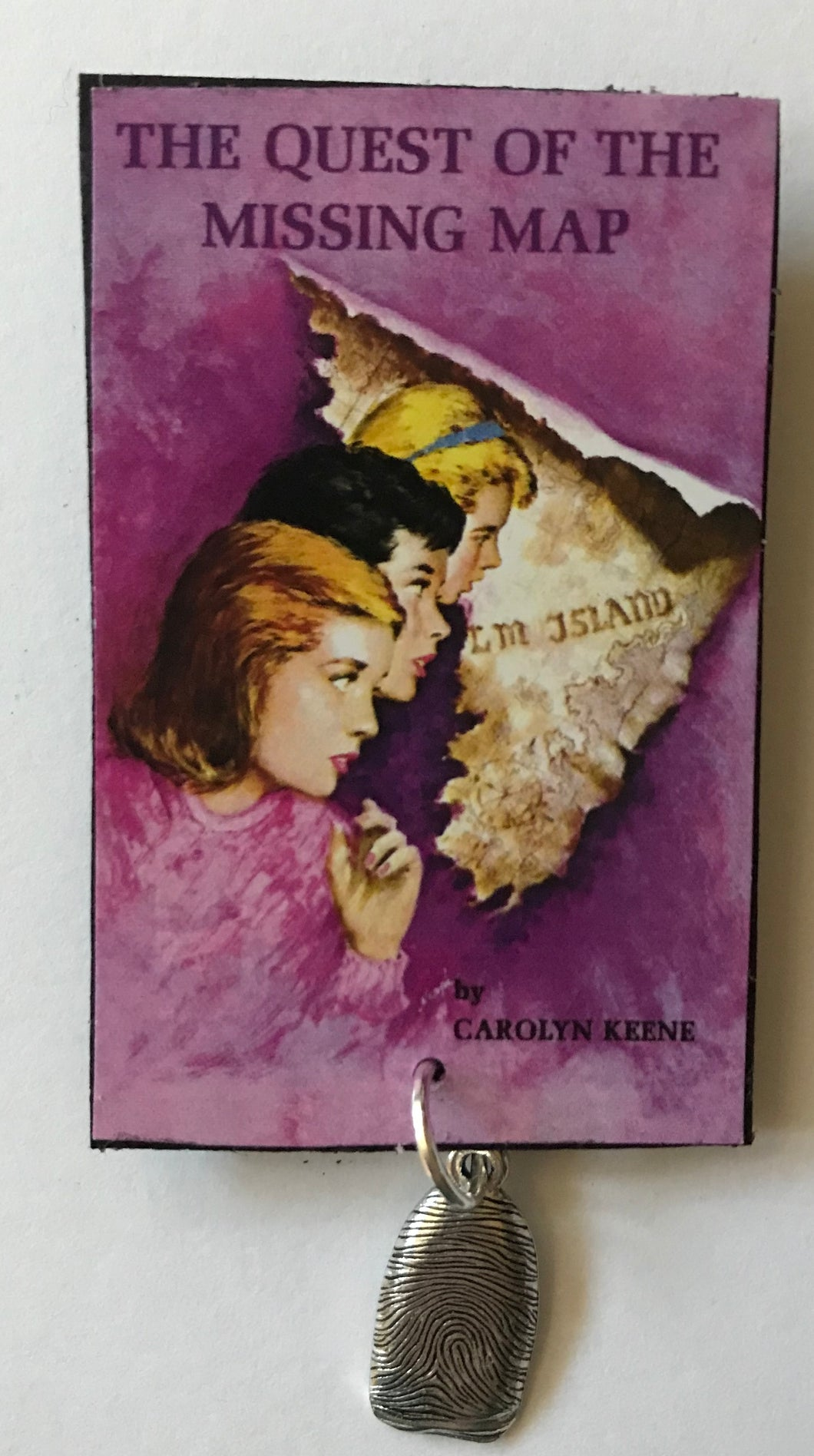 Nancy Drew Book Cover Missing Map Pin or Ornament