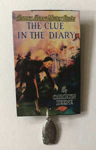 Nancy Drew Book Cover Clue in the Diary Pin or Ornament