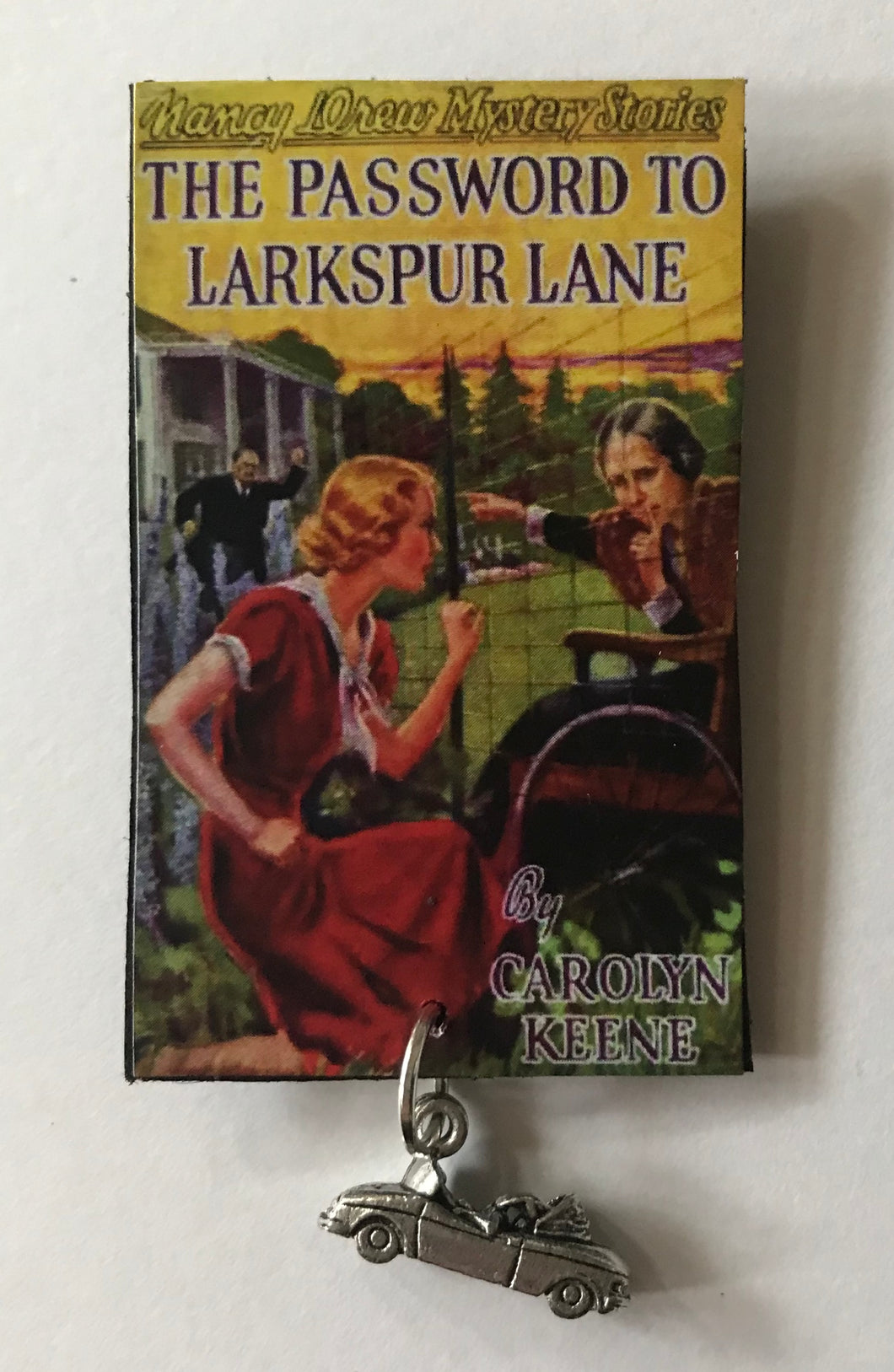 Nancy Drew Book Cover Larkspur Lane Pin or Ornament