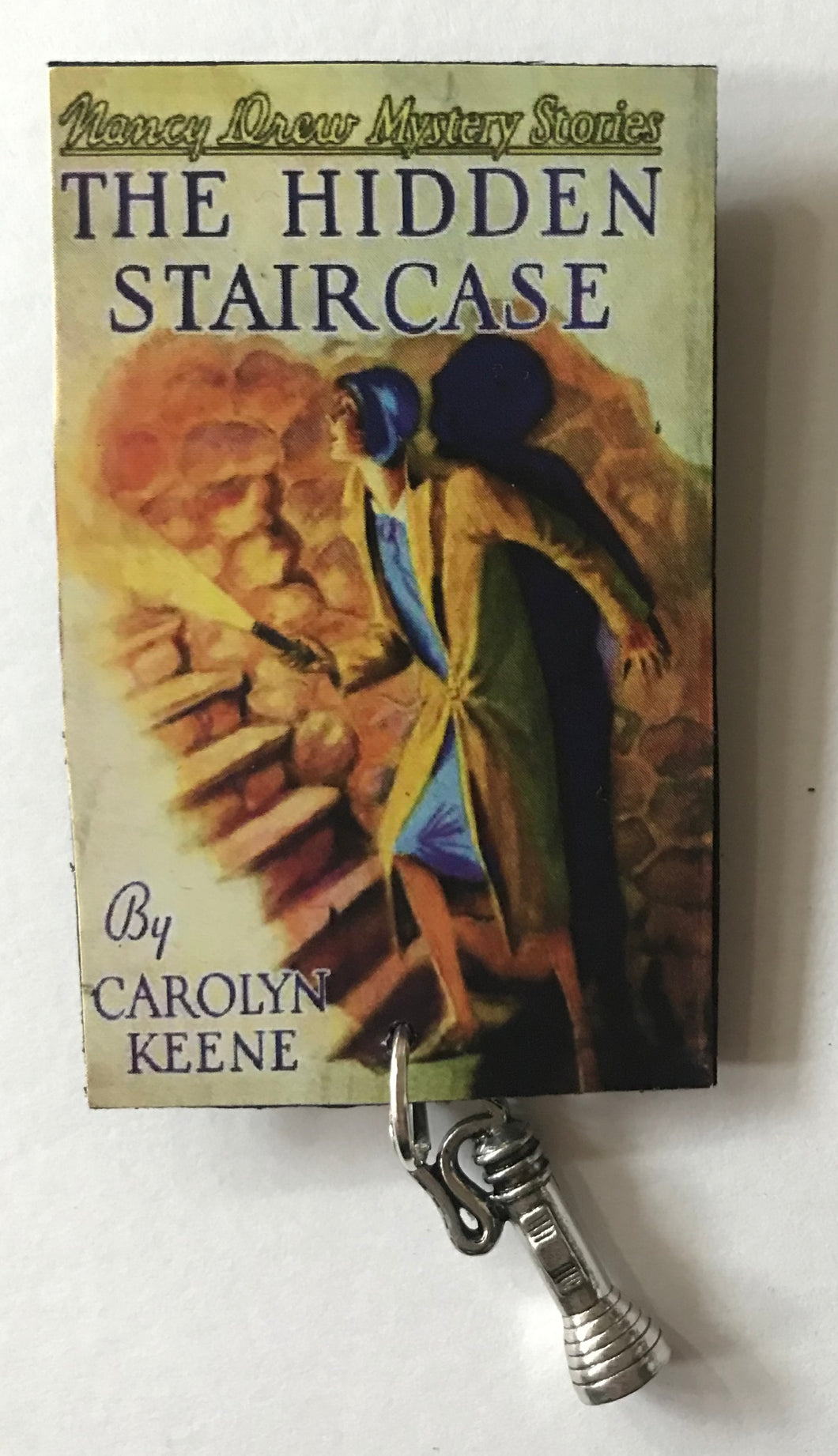Nancy Drew Book Cover Hidden Staircase Pin or Ornament
