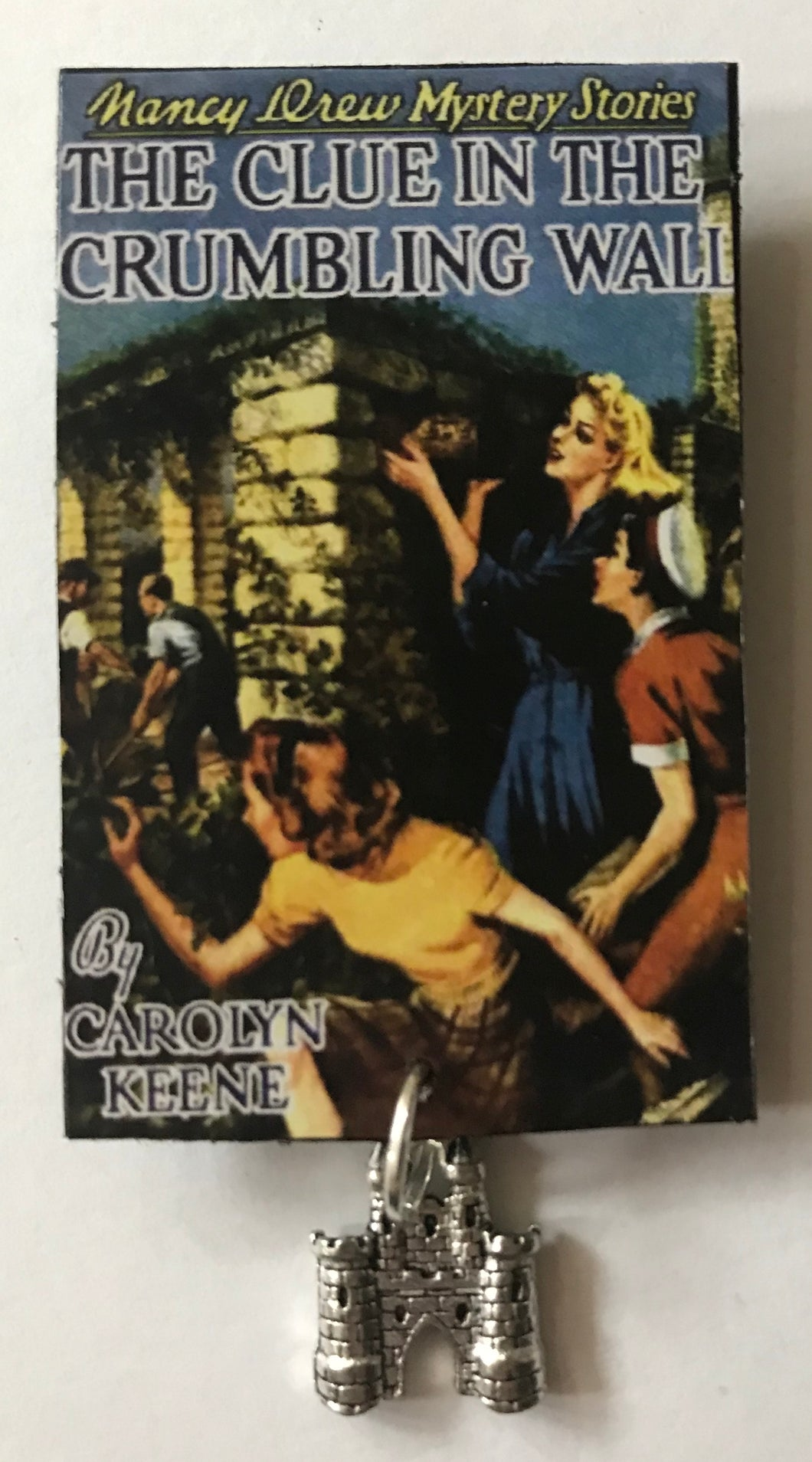 Nancy Drew Book Cover Crumbling Wall Pin or Ornament