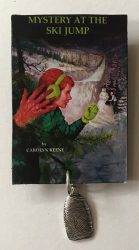 Nancy Drew Book Cover Ski Jump Pin or Ornament