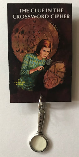 Nancy Drew Book Cover Crossword Cipher Pin or Ornament