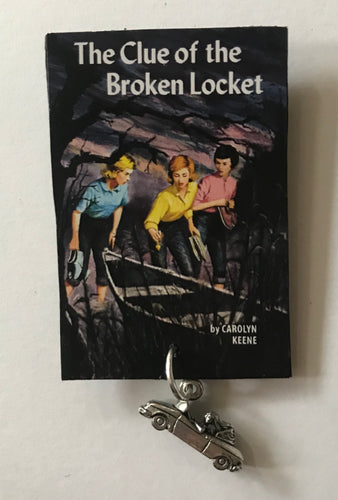 Nancy Drew Book Cover Broken Locket Pin or Ornament