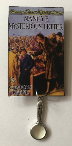 Nancy Drew Book Cover Mysterious Letter Pin or Ornament