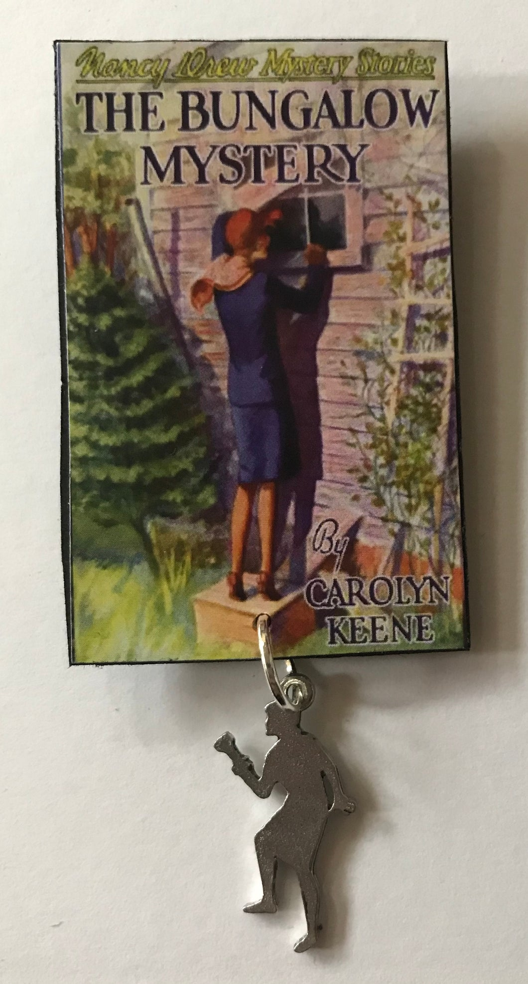 Nancy Drew Book Cover Bungalow Mystery Pin or Ornament