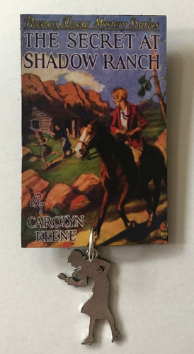 Nancy Drew Book Cover Shadow Ranch Pin or Ornament