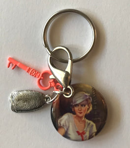 Nancy Drew Twisted Candles Key Chain Clip