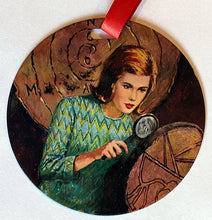 Load image into Gallery viewer, Nancy Drew Crossword Cipher Ornament
