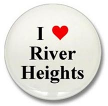 I Love River Heights Nancy Drew Button