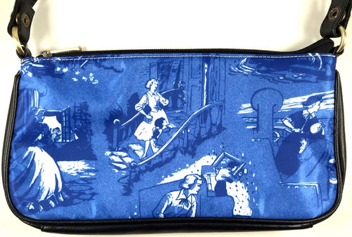 Nancy Drew Book Endpapers Clutch Bag