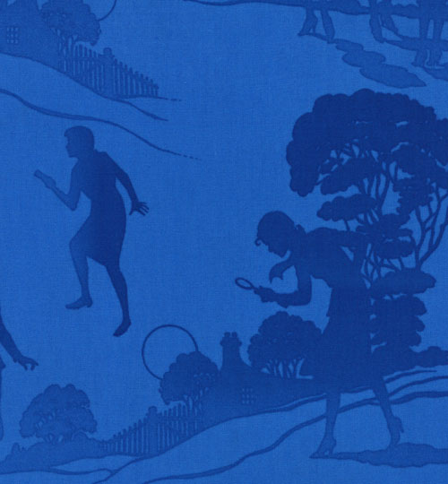 Nancy Drew Get a Clue Moda Fabric FQ Blue Endpapers
