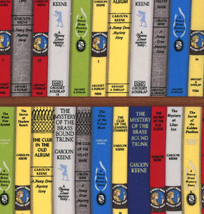 Nancy Drew Get a Clue Moda Fabric FQ Book Spines #2