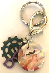 Nancy Drew Brass-Bound Trunk Key Chain Clip