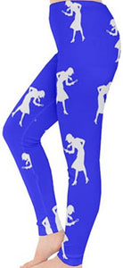 Nancy Drew Blue & White Silhouette Leggings