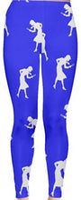 Load image into Gallery viewer, Nancy Drew Blue & White Silhouette Leggings