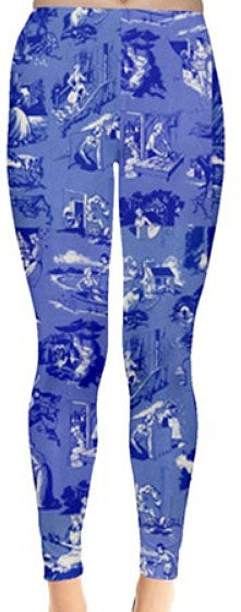 Nancy Drew Blue Book Endpapers Leggings
