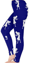 Load image into Gallery viewer, Nancy Drew Dark Blue & White Silhouette Leggings