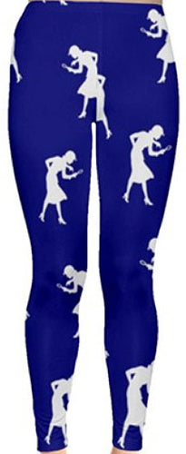 Nancy Drew Dark Blue & White Silhouette Leggings