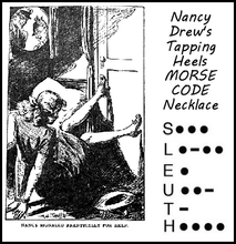 "Load image into Gallery viewer, Nancy Drew ""Sleuth"" Morse Code Necklace"