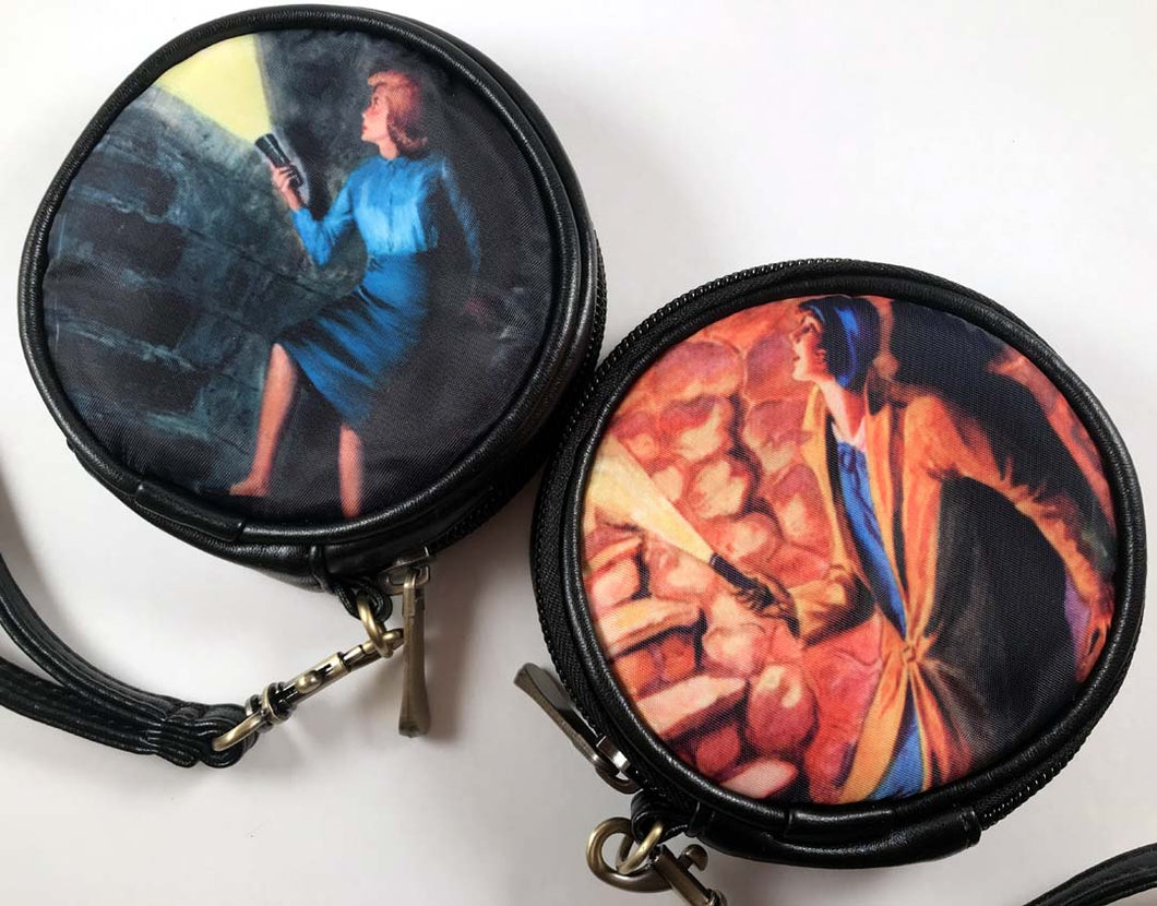 Nancy Drew Hidden Staircase Round Case Wristlet