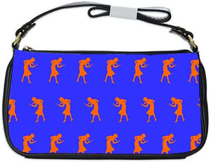 Nancy Drew Orange Silhouettes Clutch Bag