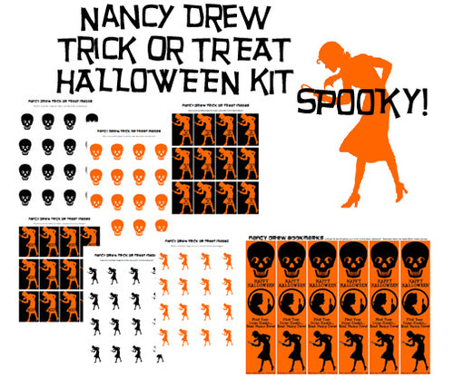 Nancy Drew Printable Halloween Trick or Treat Kit